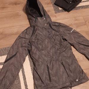 Columbia NWOT Grey Pin Striped Interchange Jacket